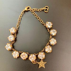 Vintage Dior Star White Crystal Bears Bracelet EUC